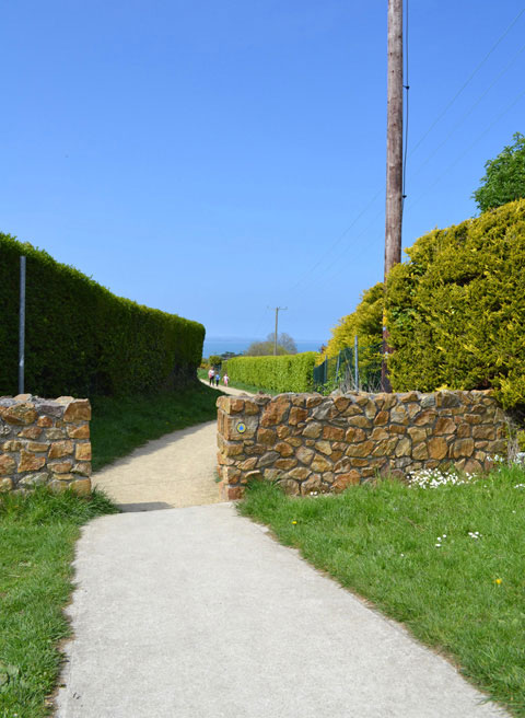 Entrance to the tramline loop walk on Howth Head